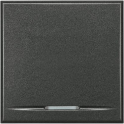 Intrerupator Bticino HS4051/2 Axolute - Intrerupator simplu, 16A - 250V, 2 module, rocker, negru