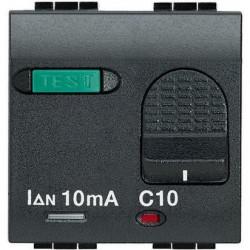 Intrerupator Bticino L4305/10 Living Light - Intrerupator cu disjunctor, 1M, 10A, 3kA, 230V, negru