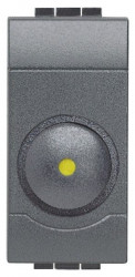 Intrerupator Bticino L4581 Living Light - Variator rotativ, 50W-800W, 1M, 250V, negru