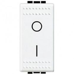 Intrerupator Bticino N4002N Living Light - Intrerupator bipolar, 2P, 16A - 250V, 1 modul, alb