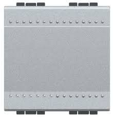 Intrerupator Bticino NT4001M2N Living Light - Intrerupator simplu 16A - 250V, 2 module, borne cu surub, argintiu