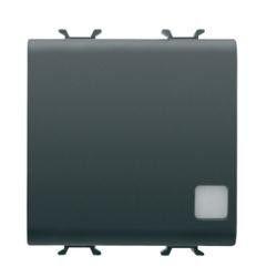 Intrerupator Gewiss GW12103F Chorus - Intrerupator cu indicator cap cruce 2M 1P 16AX NEGRU