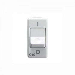 Intrerupator Gewiss GW20431 System - Intrerupator automat MCB 1P C10 3KA Alb