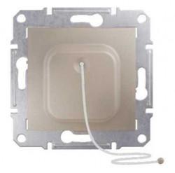 Intrerupator Schneider SDN1200168 Sedna - Intrerupator cu revenire, cu cordon, 10 AX - 250 V, titan