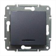 Intrerupator Schneider SDN1500170 Sedna - INTRERUPATOR CAP SCARA CU INDICATOR LUMINOS ALBASTRU, 10 AX - 250 V GRAFIT