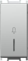 Intrerupator Tem SM11ESIN01-B Modul - Buton cu led simb sonerie1m argintiu