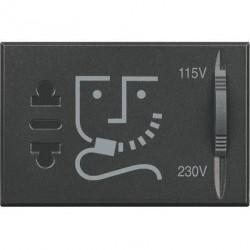 Priza Bticino HS4177 Axolute - Priza aparat ras, 2P, 16A, 250V, 3M, negru