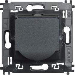 Priza Bticino L4141MAP Living Light - Priza standard german cu contacte laterale pentru impamantare si capac, borne automate, 2P+T, 16A, 250V, 2M,...