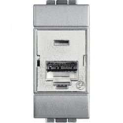 Priza Date Bticino NT4262C6S Living Light - Priza Rj45, STP, Cat 6, 1M, argintiu