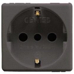 Priza Gewiss GW21205 System - Priza bivalenta standard italian 16A 2PE 2M Negru
