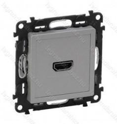 Priza HDMI Legrand 753371 Valena Life - Priza HDMI 1.3, cu suruburi, aluminiu