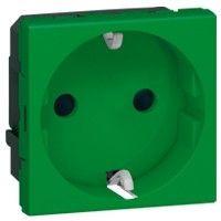Priza Legrand 077216 Mosaic - Priza 2P+T, 16A, verde, circuite speciale