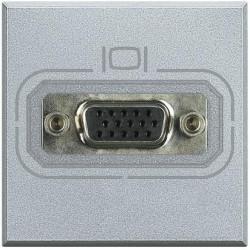 Priza Semnal Bticino HC4282 Axolute - Conector video HD15, 2M, argintiu