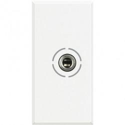 Priza Semnal Bticino HD4280 Axolute - Conector audio jack 3.5, 1M, alb