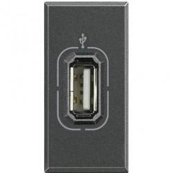 Priza semnal Bticino HS4285 Axolute - Conector USB, 2M, negru