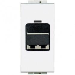 Priza Semnal Bticino N4268LC Living Light - Conector fibra optica, 1M, alb