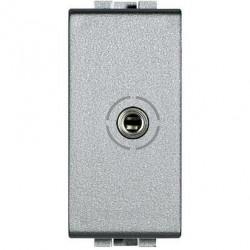 Priza Semnal Bticino NT4280 Living Light - Conector audio jack 3.5, 1M, argintiu