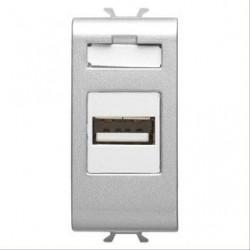Priza semnal Gewiss GW14457 Chorus - Adaptor USB, 1M TITANIUM
