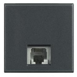 Priza Telefon Bticino HS4258/11D Axolute - Priza Rj11, K10, 2M, negru
