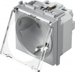 Priza Tem VM11ST-B Modul - Pr.simp CP capac 2m argintiu