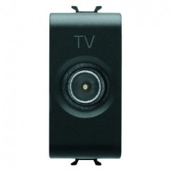 Priza TV Gewiss GW12363 Chorus - Priza TV intermediara, atenuare 10dB, 1M, tata, negru