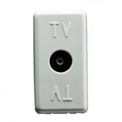 Priza Tv Gewiss GW20229 System - Priza TV intermediara, atenuare 20dB, Mama, 1M, Alb
