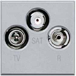 Priza TV/RD/SAT Bticino HC4210D Axolute - Priza TV-RD-SAT , 2M, argintiu