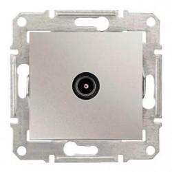 Priza TV Schneider SDN3201660 Sedna - Priza TV de capat, 1dB, aluminiu