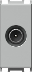 Priza TV Tem KM12ES-B Modul - Priza TV-SAT trec 1m argintiu