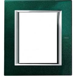 Rama Bticino HA4826VS Axolute - Rama metalica, rectangulara, 3+3 module, st. italian, green Sèvres