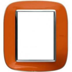 Rama Bticino HB4826DR Axolute - Rama din termoplastic, eliptica 3+3 module, st italian, liquid orange