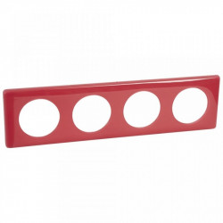 Rama Legrand 68814 Celiane - Rama 4 posturi, polimer, interax 71mm, magenta