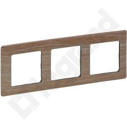Rama Legrand 754183 Valena Life - Rama 3 posturi, lemn deschis