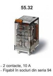 Releu Finder 553280242050 - Releu comutatie 24V, AC, 2C, 10A
