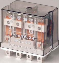 Releu Finder 563480240010 - Releu comutatie 24V, AC, 4C, 12A