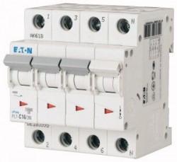 Siguranta automata Eaton 264001 - DISJUNCTOR PL7-C63/3N 4P, 63A, 10kA, C