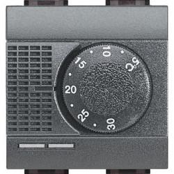 Termostat Bticino L4441FH Living Light - termostat de ambianta cu sonda pentru pardoseala, 2M, 2A, negru