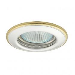 Corp iluminat Kanlux 2822 HORN CTC-3114 - Spot incastrat, Gx5,3, max 50W, 12V, IP20, alb/auriu
