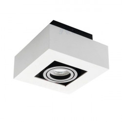 Corp iluminat Kanlux STOBI 26831 - Plafoniera led 1x25W, Gu10, IP20, alb/negru