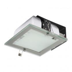 Corp iluminat Knalux 18291 SHIRO DLL - Corp iluminat incastrat, E27, 2xmax 20W, IP20, argintiu