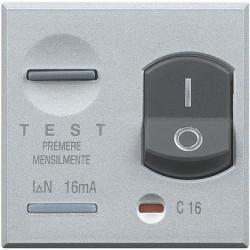 Disjunctor Bticino HC4305/16 Axolute - Disjuntor magneto-termic, 1P+N, 16A, 3KA, argintiu