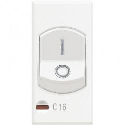 Disjunctor Bticino HD4301A16 Axolute - Disjuntor magneto-termic, 1P+N, 16A, 3KA, alb