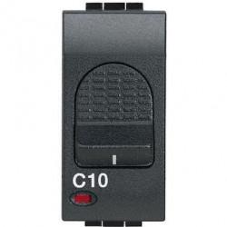 Intrerupator Bticino L4301/10 Living Light - Intrerupator cu disjunctor, 1M, 10A, 3kA, 230V, negru