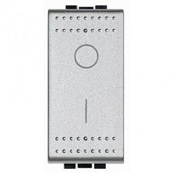 Intrerupator Bticino NT4002N Living Light - Intrerupator bipolar, 2P, 16A - 250V, 1 modul, argintiu