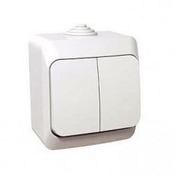 Intrerupator Schneider Cedar WDE000550 - Intrerupator dublu IP44, alb