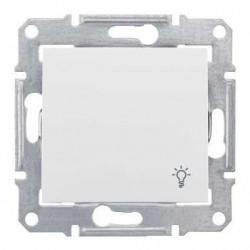 Intrerupator Schneider SDN0900121 Sedna - Intrerupator cu revenire, cu simbol lumina, 10 AX - 250 V, alb