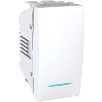 Intrerupator Schneider Unica MGU3.103.18N - Intrerupator cap scara cu led, 1M, alb