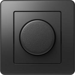 Intrerupator Tem EE19NB-B Ekonomik - Variator rotativ dimabil cap-scara 100 negru