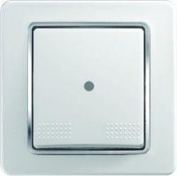 Intrerupator Tem SE10COIN-B Ekonomik - Intrerupator simplu cu led alb cu inel argintiu