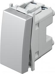 Intrerupator Tem SM11ES-B Modul - Buton simplu 1m argintiu